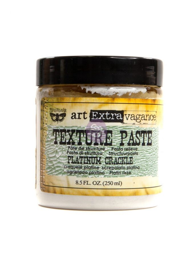 Art Extravagance- Texture Paste - Platinum Crackle 8.45oz (250ml)