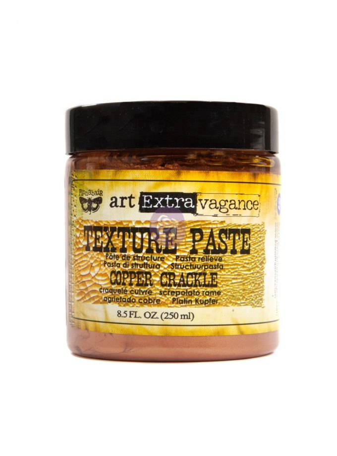 Art Extravagance- Texture Paste - Copper Crackle 8.45oz (250ml)