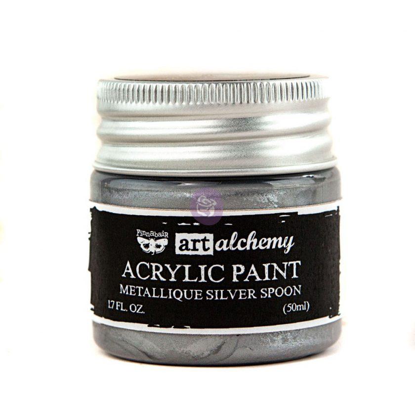 Art Alchemy-Acrylic Paint-Metallique Silver 1.7 fl.oz (50ml)