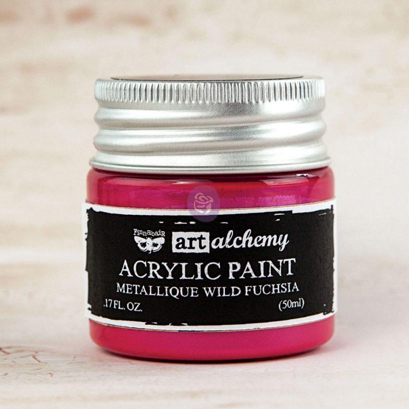 Art Alchemy-Acrylic Paint-Metallique Magenta 1.7oz