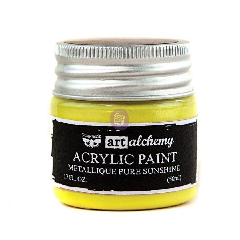 Art Alchemy-Acrylic Paint-Metallique Yellow 1.7 fl.oz (50ml)