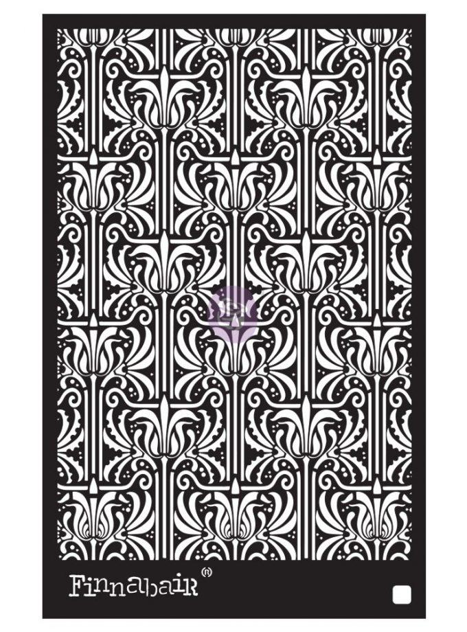6x9 Stencil - Iris Tapestry