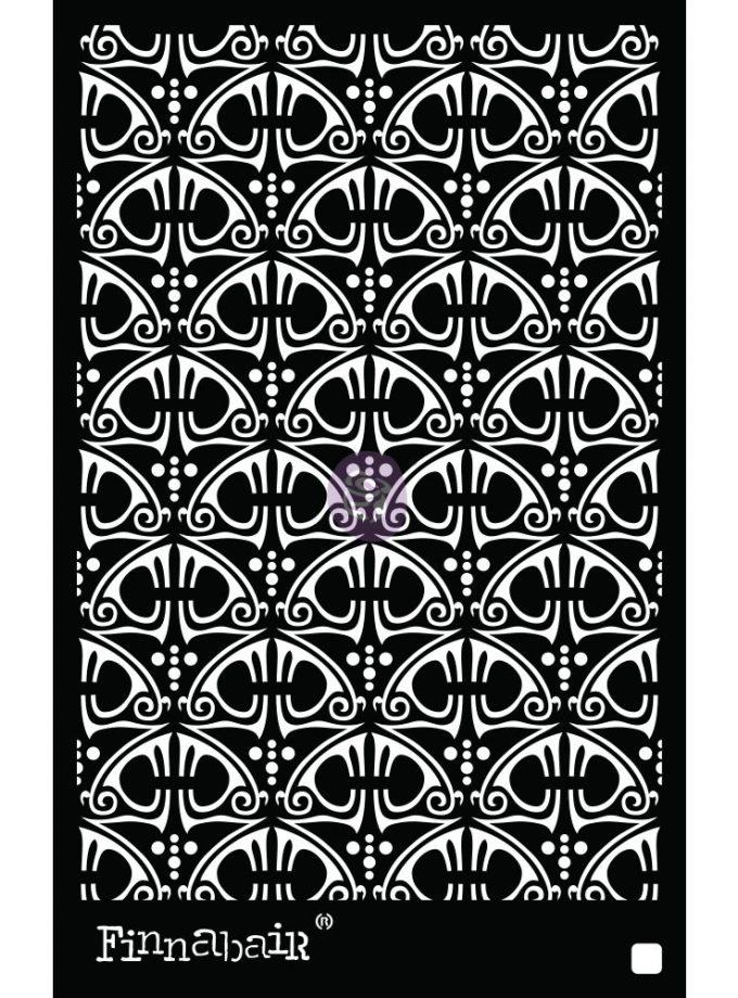 6x9 Stencil - Swirly Florals