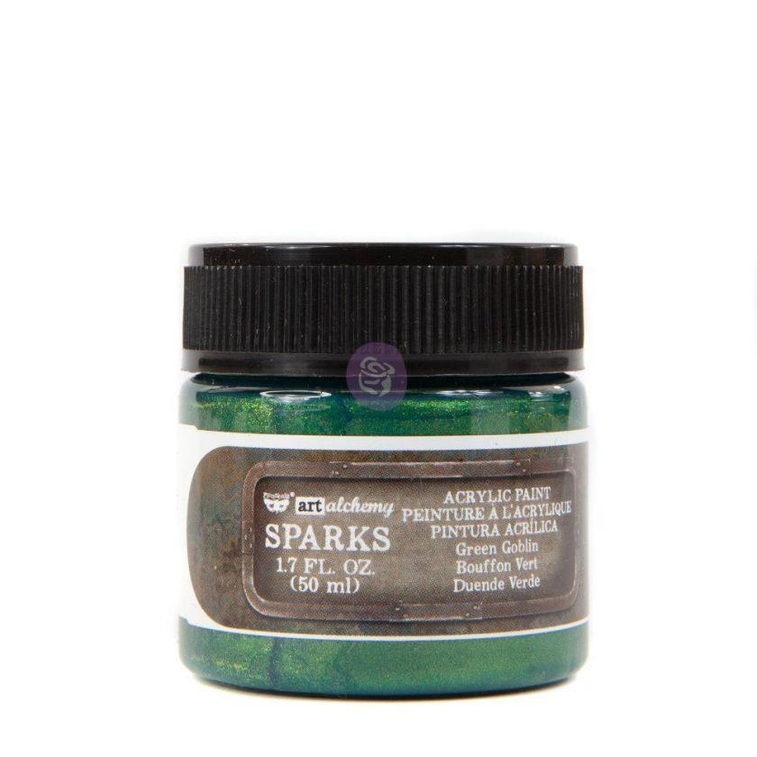 Art Alchemy- Sparks Acrylic Paint - Green Goblin 1.7 fl.oz (50ml)