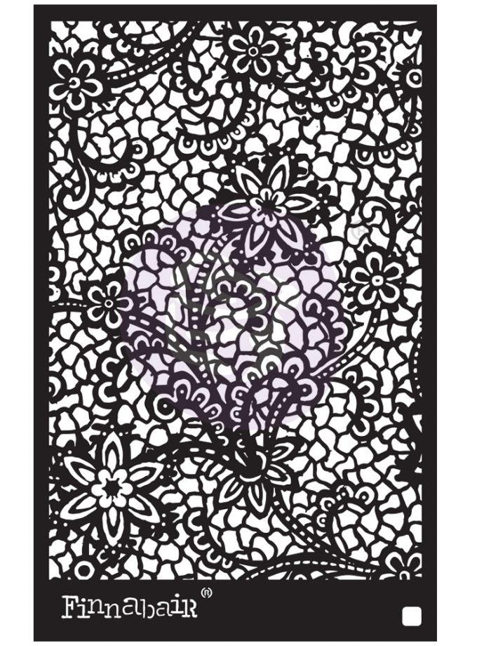 "6x9 Stencil - Floral Net - 6"" x 9"""