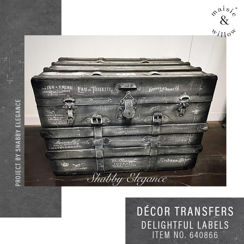 """Maisie & Willow Transfers® - Delightful Labels - 3 sheets, total design size 16""""x23"""""""