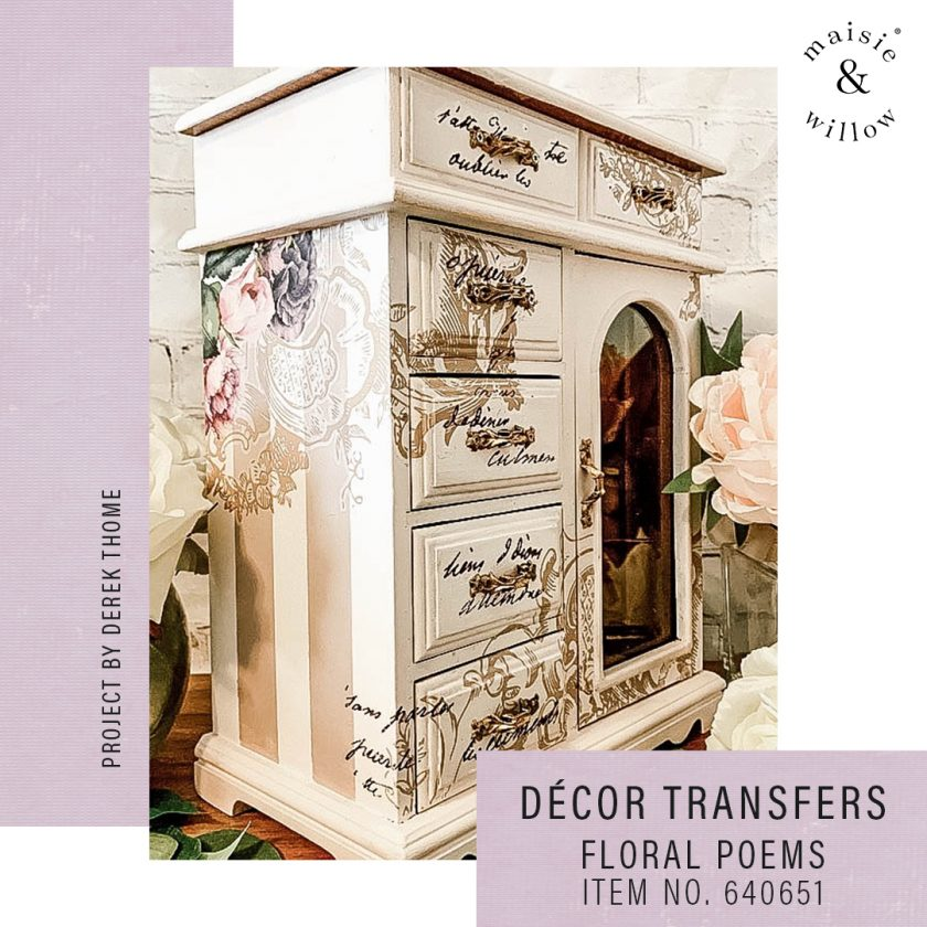 "Maisie & Willow Transfers® - Floral Poems - 2 sheets, total design size 16""x23"""