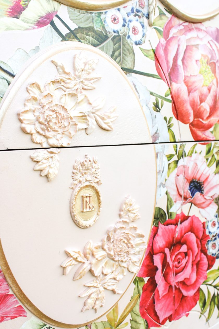 """Redesign Decor Moulds® - Wilderness Rose - 5""""x8"""", 8mm thickness"""