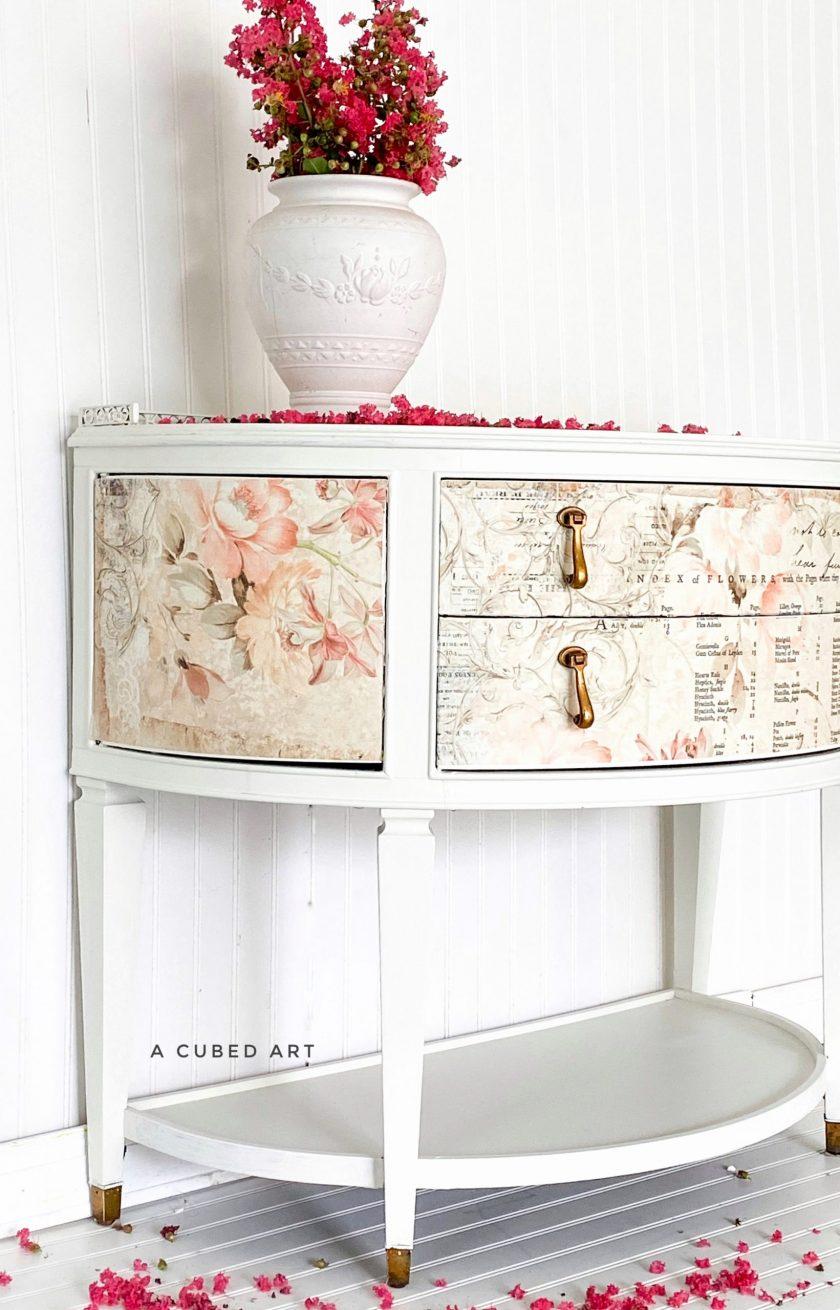 """Redesign Decoupage Décor Tissue Paper - Floral Parchment - 2 sheets (19"""" x 30"""")"""