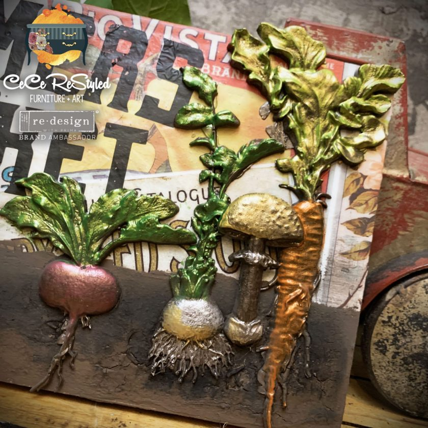 """Redesign Decor Moulds® - Vintage Roots - 5""""x8"""", 8mm thickness"""