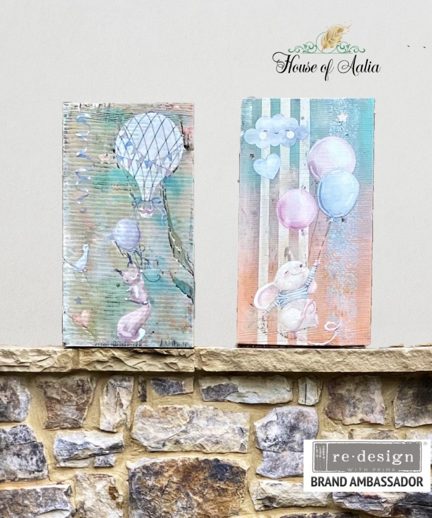 """Redesign Decor Transfers® - Sweet Dreams - total sheet size 24""""x35"""", cut into 2 sheets"""