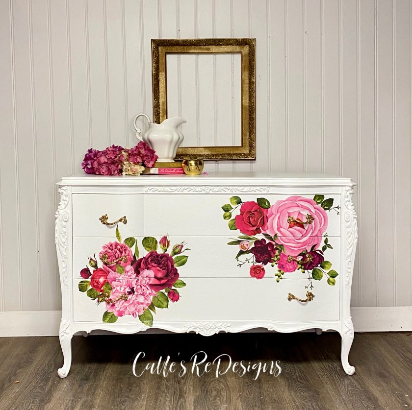 """Redesign Decor Transfers® - Lush Floral I - total sheet size 48""""x35"""", cut into 6 sheets"""