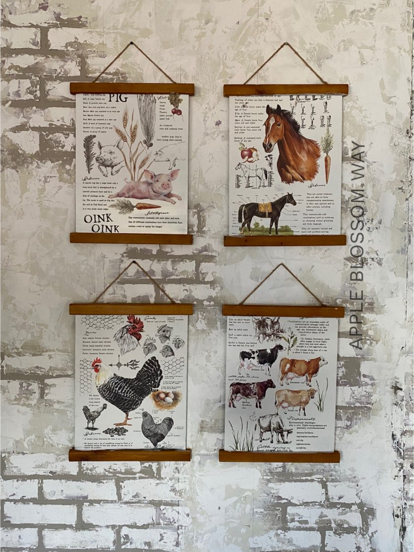 """Redesign Decor Transfers® - Farm Life - total sheet size 24""""x35"""", cut into 2 sheets"""