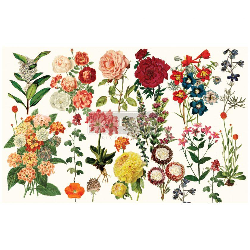 "Redesign Decoupage Décor Tissue Paper - Forest Garden - 1 sheet, 19""x30"""