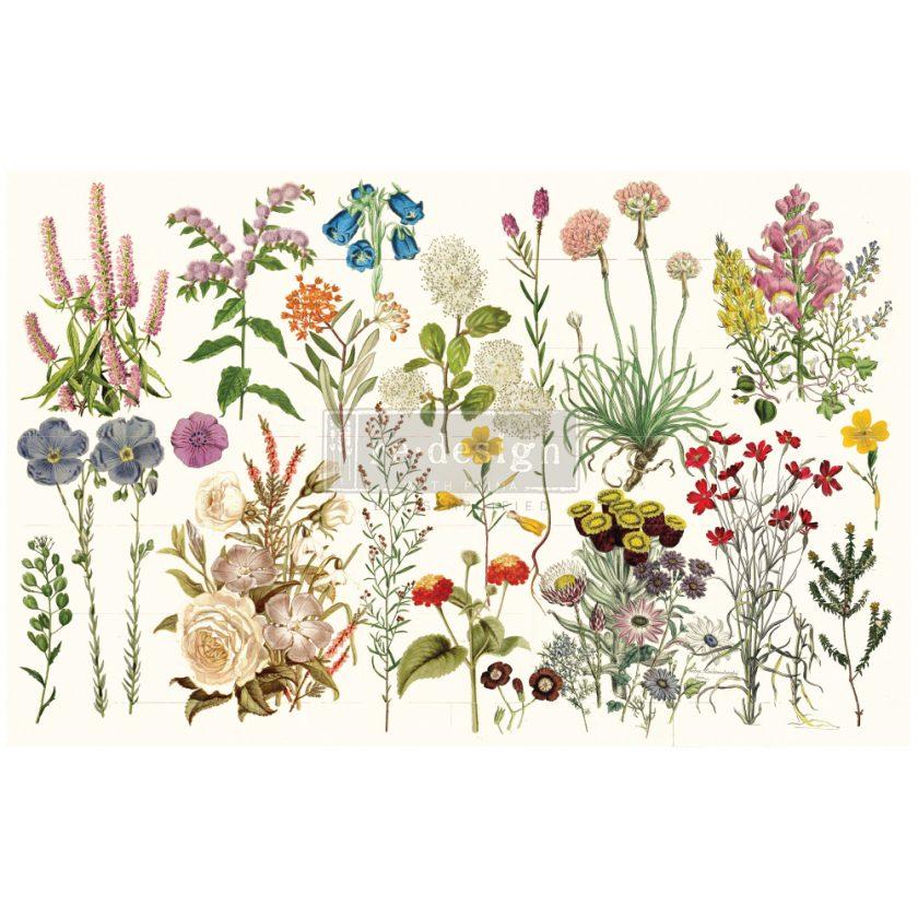 "Redesign Decoupage Décor Tissue Paper - Wild Herbs - 1 sheet, 19""x30"""