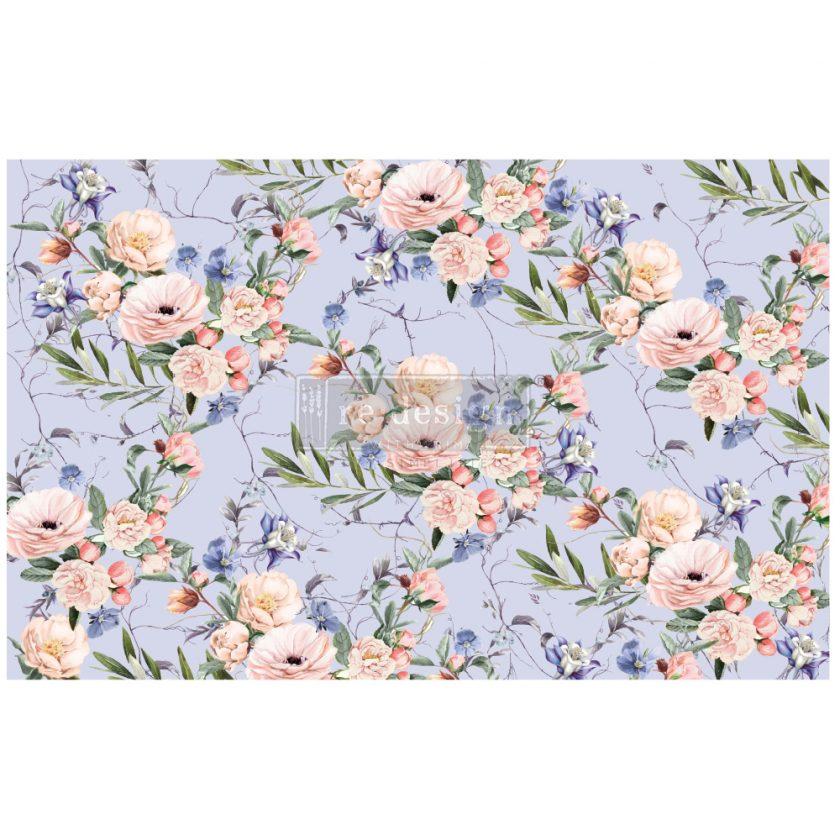 """Redesign Decoupage Décor Tissue Paper - Lavender Fleur - 1 sheet, 19""""x30"""""""