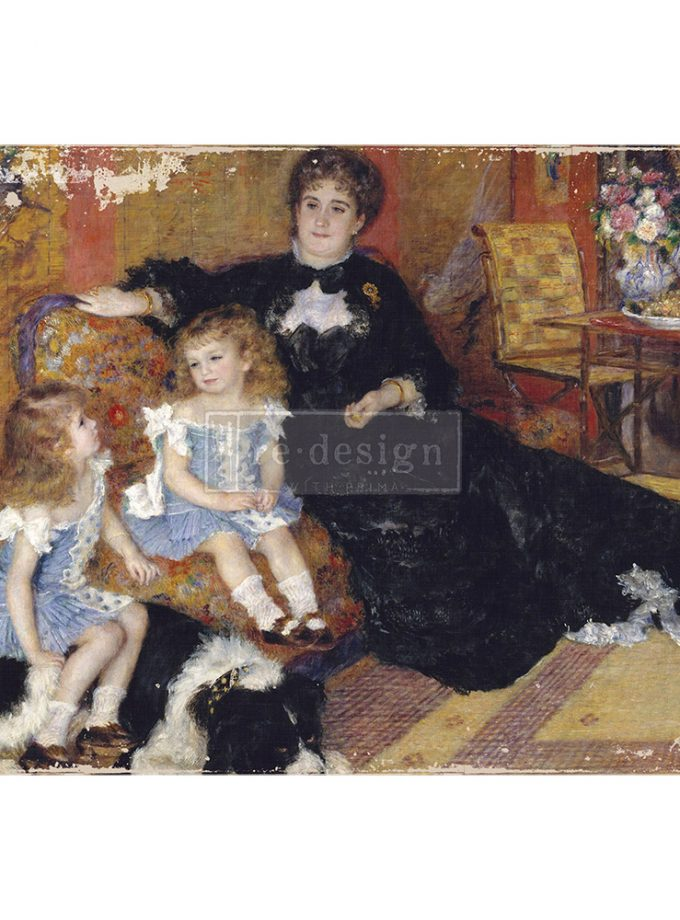 "Redesign A1 Decoupage Rice Paper (Mulberry Tissue Paper) - Family Moment 23.4""X33.1"""