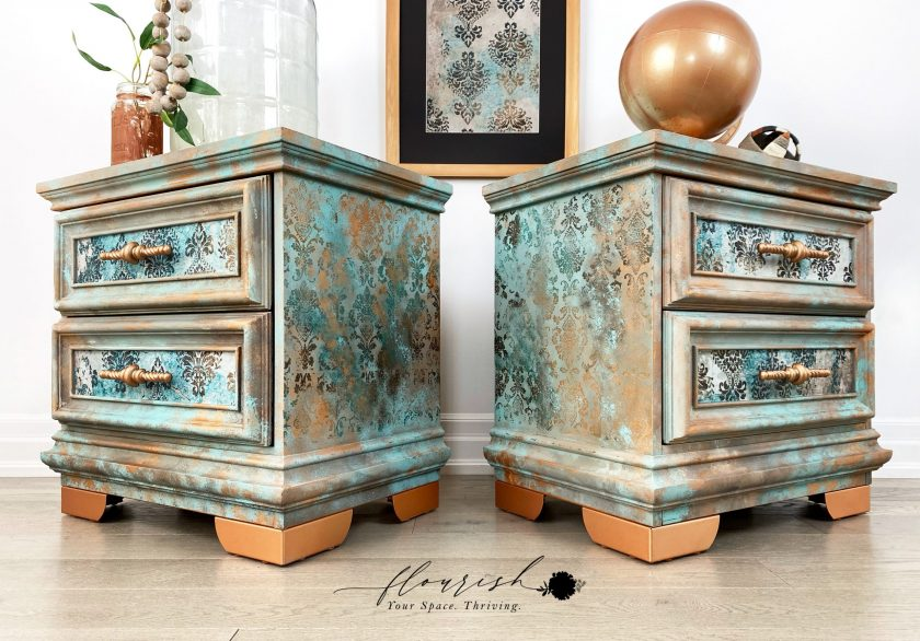 "Redesign Decoupage Décor Tissue Paperr - Patina Flourish - 1 sheet, 19""x30"""