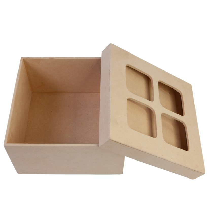 "MDF Keepsakes Box 7""x7""x4"""