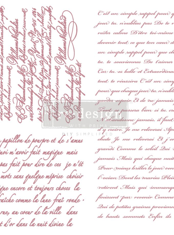 "Redesign Decor Stamp - Vintage Script - 12""x12"" (3 pcs)"
