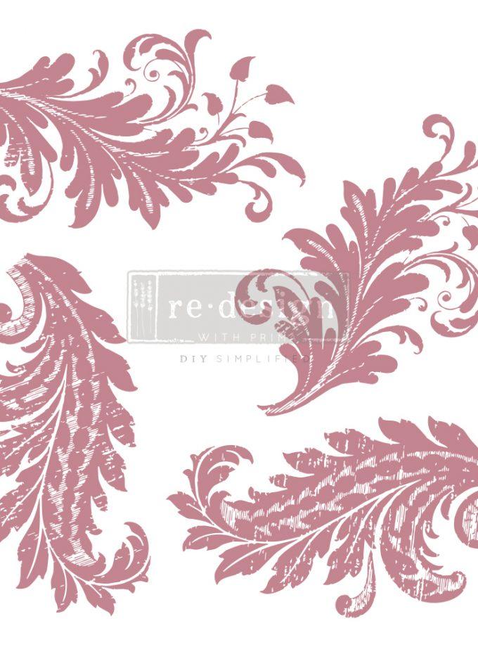 "Redesign Decor Stamp - Royal Flourish - 12""x12"" (4 pcs)"