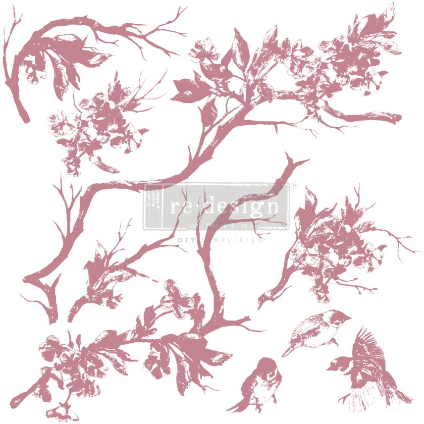 """Redesign Decor Stamp - Forest Aviary - 12""""x12"""" (9 pcs)"""