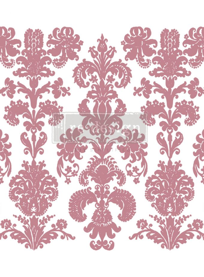"""Redesign Decor Stamp - Stamped Damask - 12""""x12"""" (1 pc)"""