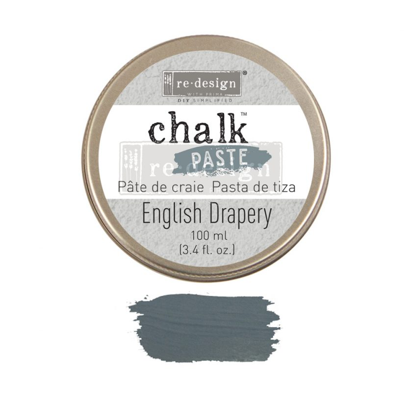Redesign Chalk Paste - English Drapery - 1 jar, 100 ml (3.4 fl oz)