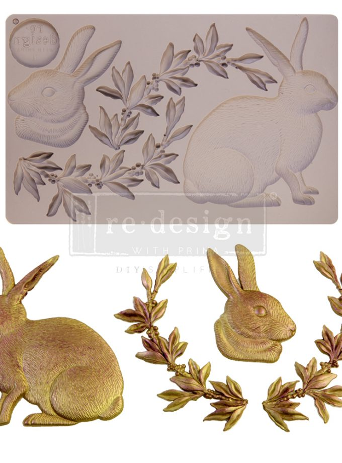 """Redesign Decor Moulds® - Meadow Hare - 1 pc, 5""""x8"""", 8mm thickness"""