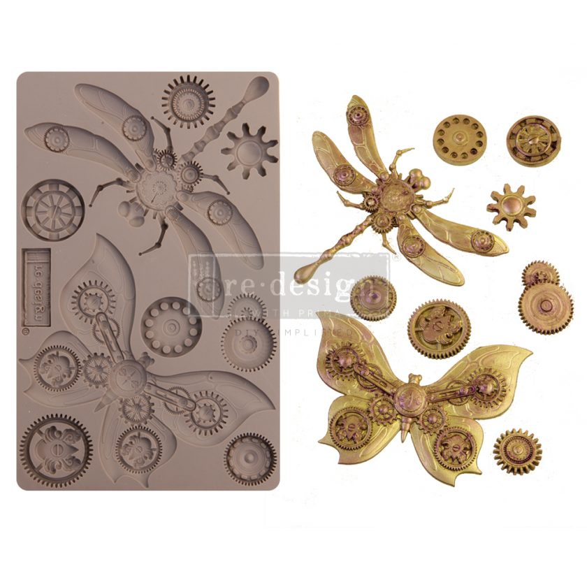 """Redesign Decor Moulds® - Mechanical Insectica - 1 pc, 5""""x8"""", 8mm thickness"""