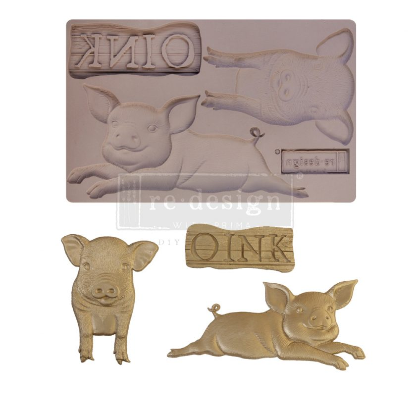 """Redesign Decor Moulds® - Farm Friends - 1 pc, 5""""x8"""", 8mm thickness"""