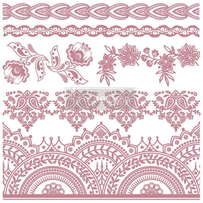 "Redesign Decor Stamp - Bohemian Florals - 12""x12"" (6 pcs)"