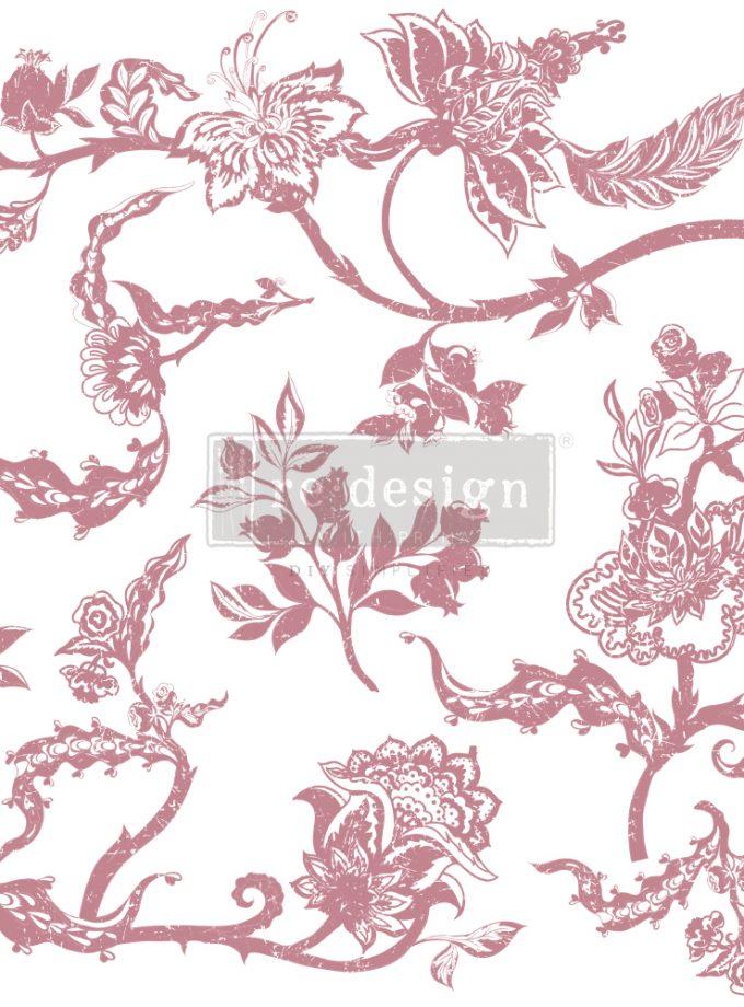 "Redesign Decor Stamp - Distressed Floral Prints - 12""x12"" (7 pcs)"