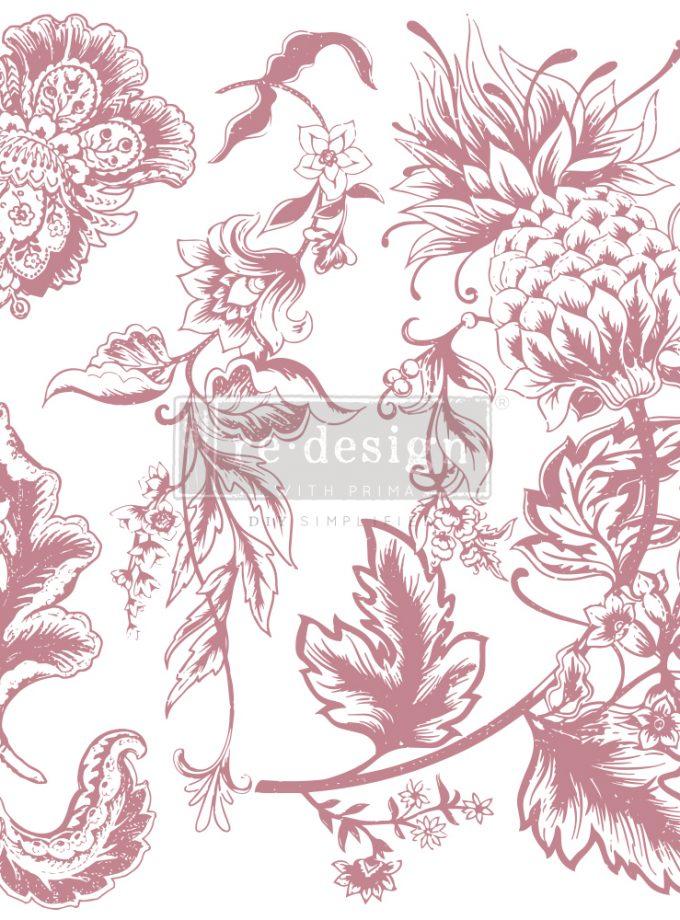 "Redesign Decor Stamp - Rustic Floral Elements - 12""x12"" (5 pcs)"