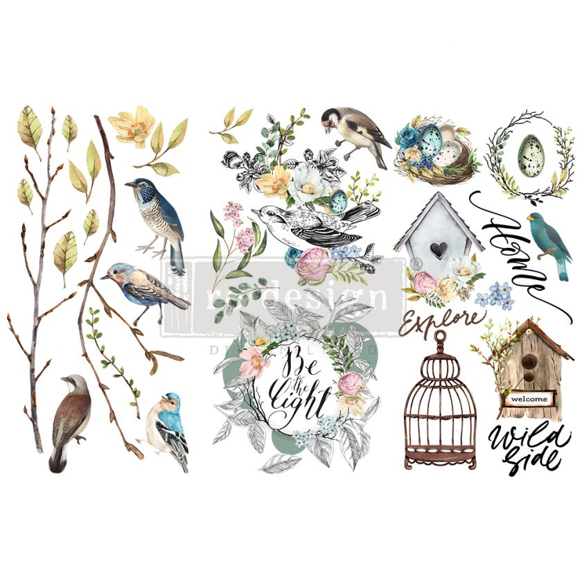 """Redesign Decor Transfers® - Garden Marvels - 3 sheets, 6""""x12"""""""