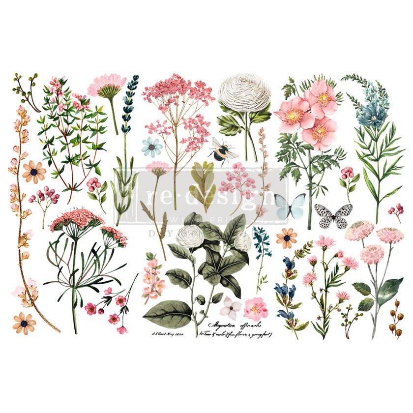 "Redesign Decor Transfers® - Botanical Paradise - 3 sheets, 6""x12"""