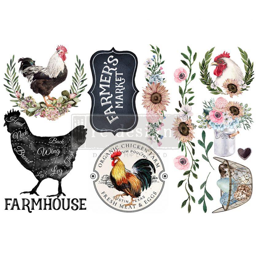 "Redesign Decor Transfers® - Morning Farmhouse - 3 sheets, 6""x12"""