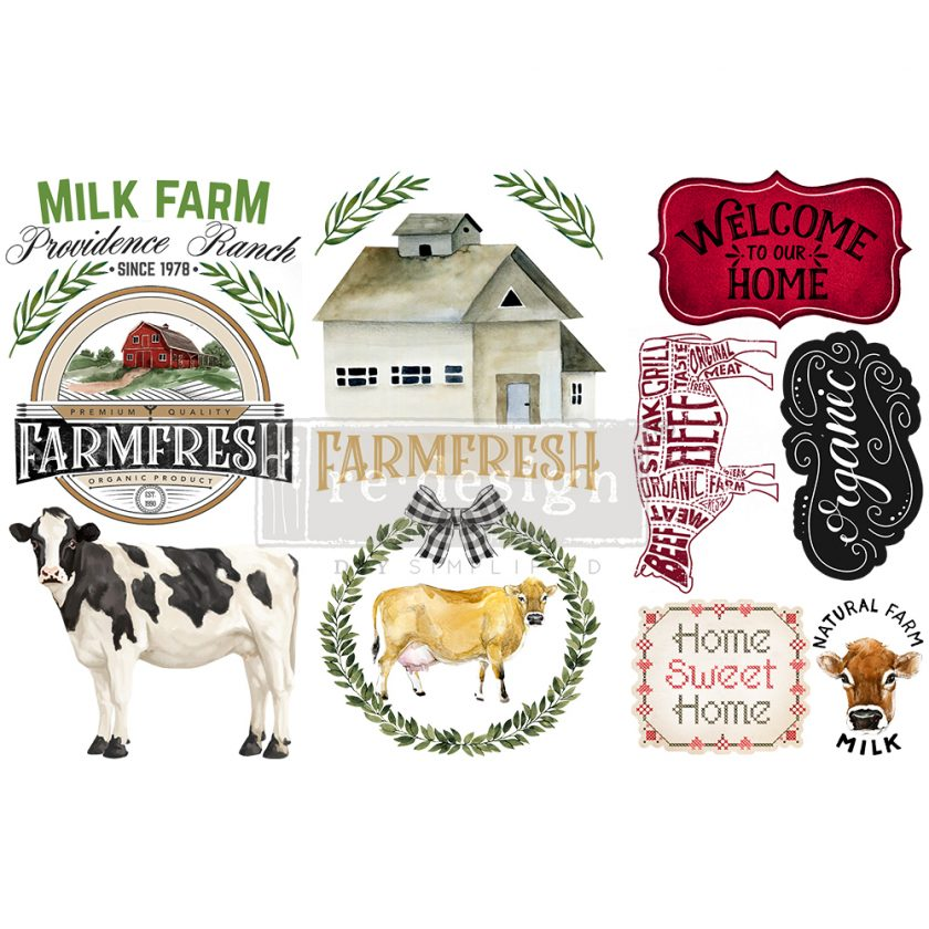 """Redesign Decor Transfers® - Home & Farm - 3 sheets, 6""""x12"""""""