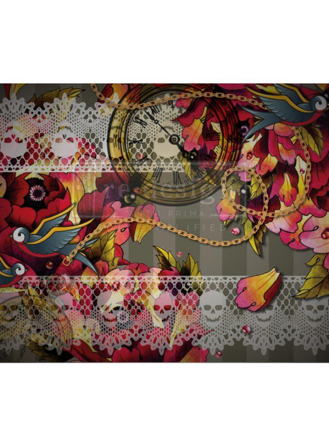 "Redesign Decoupage Décor Tissue Paper - CECE Ink & Lace - 1 sheet, 19""x30"""