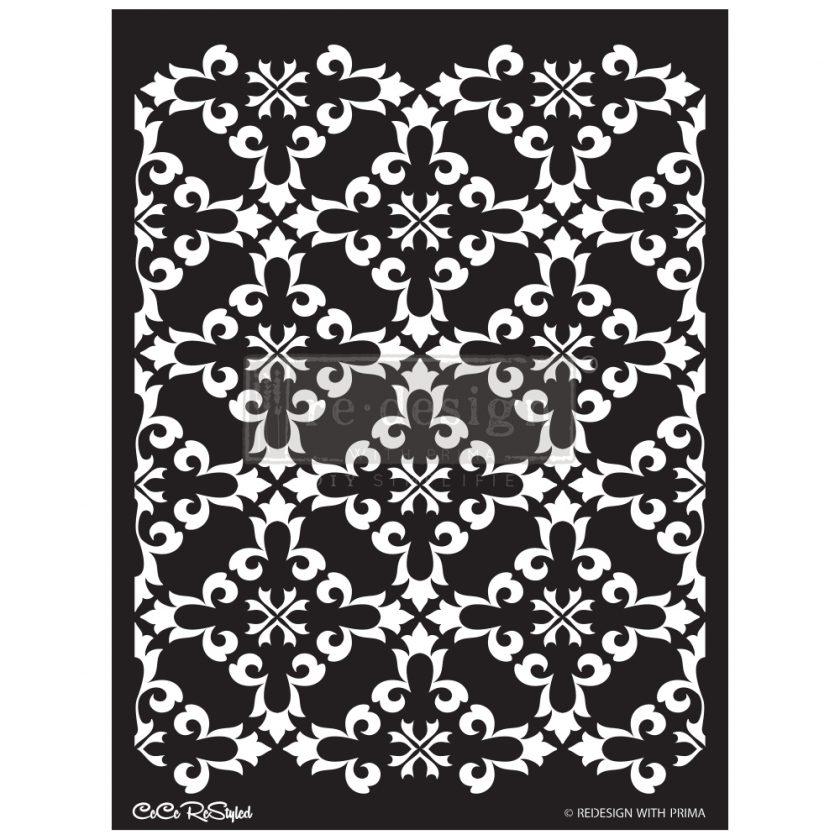 """Redesign Stencil - CECE Gothic Trellis 18x25.5 - sheet size 18""""x25.5"""", design size 16.7""""x21.8"""""""