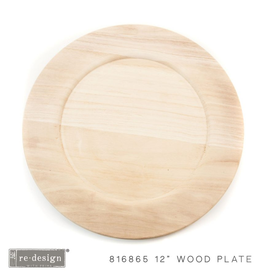 "Paulownia Wood Charger 12"" - 1 tray, 12"" diameter"