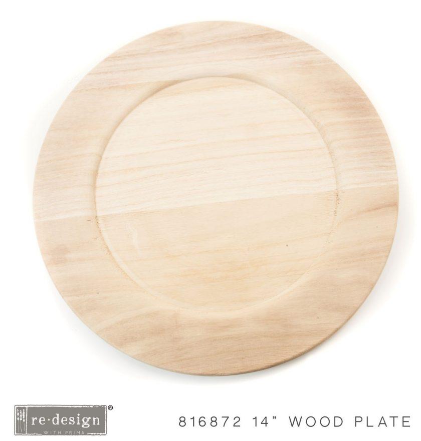 "Paulownia Wood Charger 14"" - 1 tray, 14"" diameter"