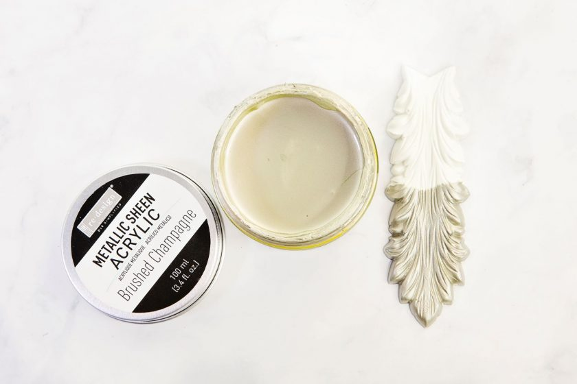 Redesign Acrylic Paint Metallic Sheen - Brushed Champagne - 1 jar, 100 ml (3.4 fl oz)