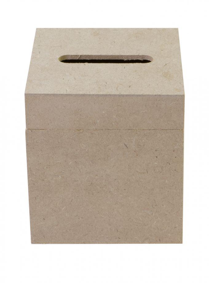 "MDF Tissue Box 5.5""x5""x4.75"""