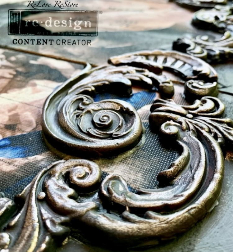 """Redesign Decor Moulds® - Lilian Scrolls - 1 pc, 5""""x10"""", 8mm thickness"""