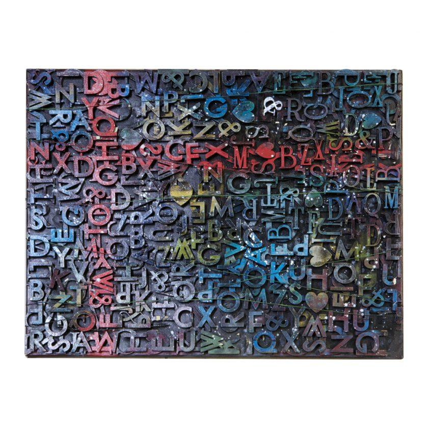 """3D Wood Alphas 1"""" Hexagon"""