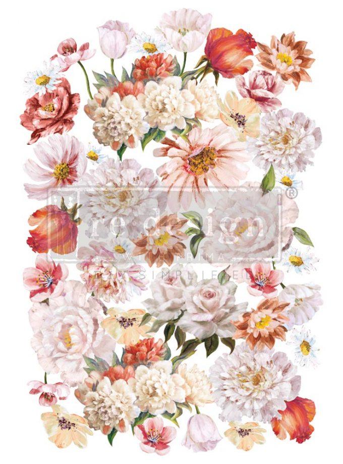 "Decor Transfers® - Pretty in Peach - total sheet size 24""x35"", cut into 3 sheets"