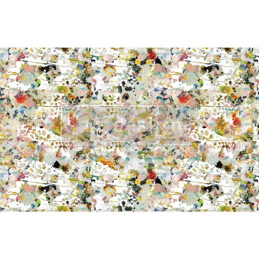 "Decoupage Decor Tissue Paper - Flower Bed - 1 sheet, 19""x30"""