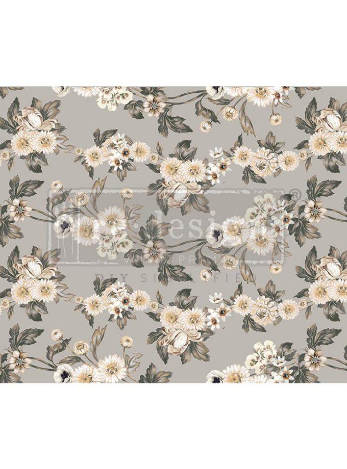 "Decoupage Decor Tissue Paper - Vintage Wallpaper - 1 sheet, 19""x30"""