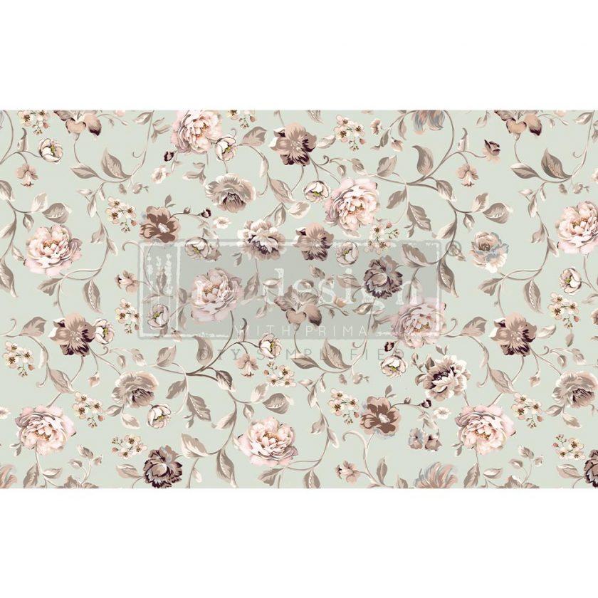 "Decoupage Decor Tissue Paper - Neautral Florals - 1 sheet, 19""x30"""